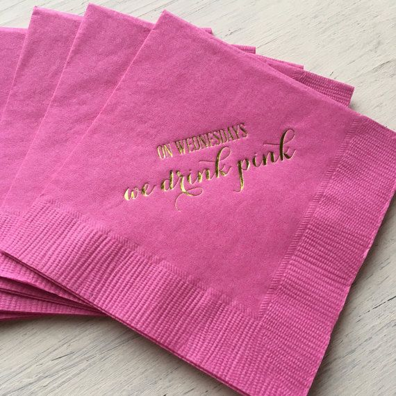 Mean Girls Party Theme, On Wednesday We Drink Pink, Mean girls inspired, Go Glen CoCo, You cant sit with us, Mean Girls Bachelorette Party by EatCoutureCupcakes on Etsy