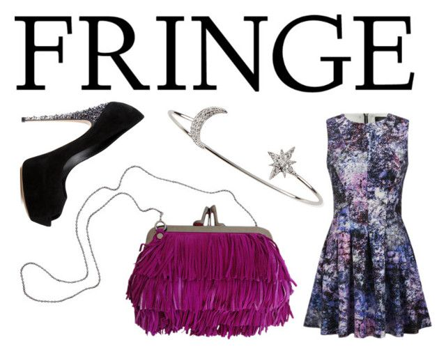 Fringed Fashion by alexfreyberg on Polyvore featuring polyvore, fashion, style, Girls On Film, Casadei, Christian Louboutin, Tai, clothing, fringe, NightOut and fringebag