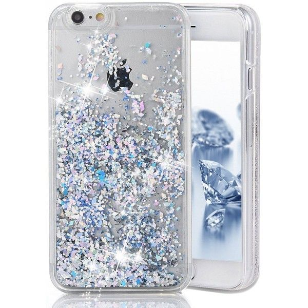 iPhone 7 Case, iPhone 7 Liquid Glitter Case,PHEZEN 3D Creative Design... ($8.99) ❤ liked on Polyvore featuring accessories and tech accessories