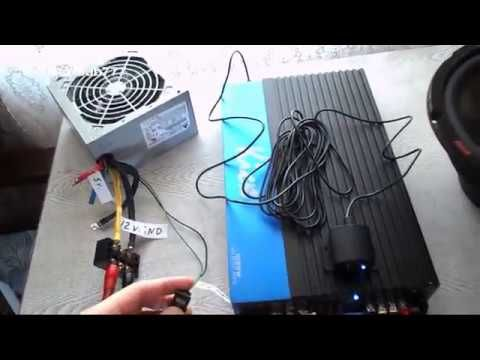 How To Connect A Car Amplifier To Computer Power Supply In House Tutorial Car Amplifier Computer Power Supplies Computer Supplies