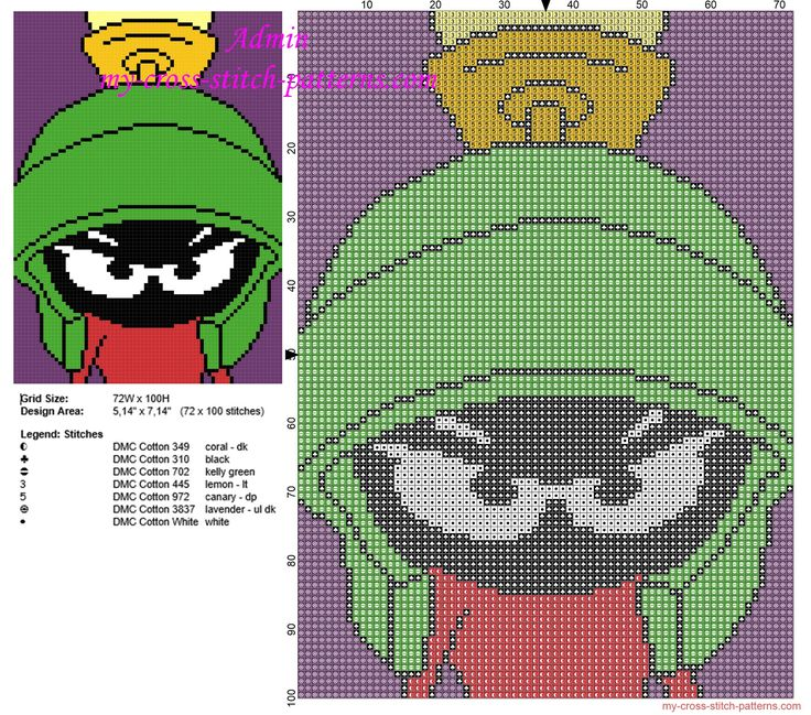 Cartoon Characters Knitting Patterns : Best images about marvin the martian on pinterest