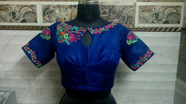 Exclusive customised blouse front