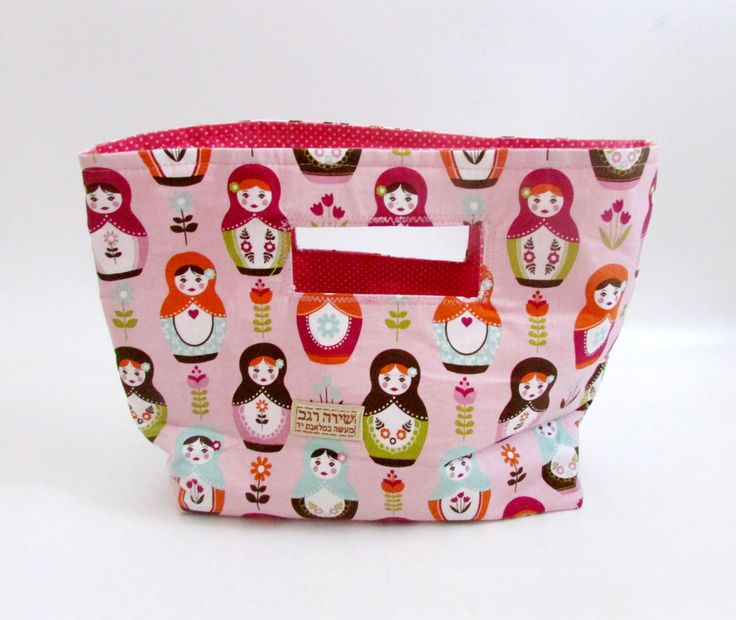 Hangbag Hold in hand, Babushka print tote bag, Handbag, Shopping bag. CRAZY SALE