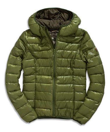 This Cedar Green Puffer Jacket is perfect! #zulilyfinds