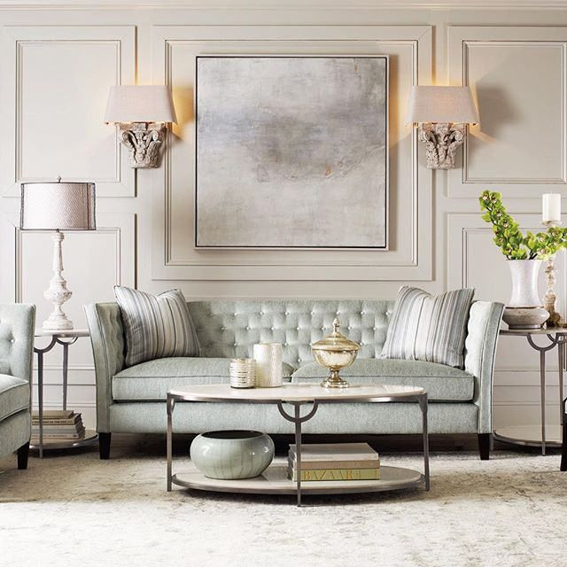 Love The Colors And Furniture With Symmetry Living Room