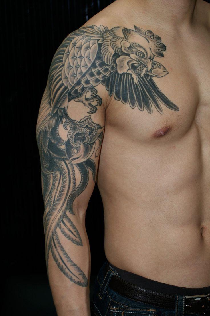 22 best wing tattoos on shoulder for men images on for Shoulder and arm tattoos