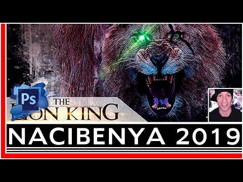 Making The Lion King 2019 Movie Poster Photoshop Actions Youtube