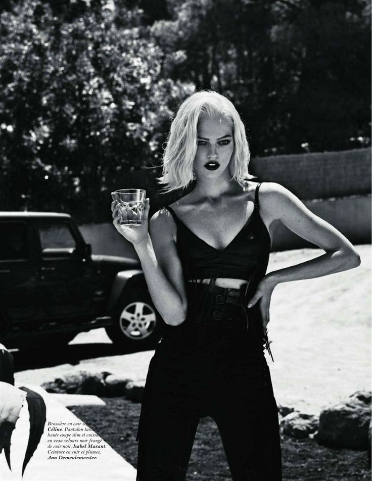 Anja Rubik & Sasha Pivovarova by Mert & Marcus for Vogue Paris