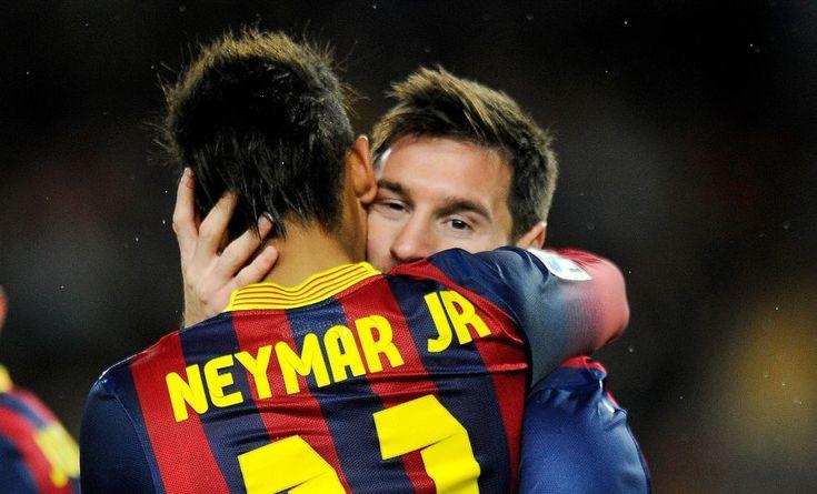 Messi con Neymar | Goleada y lesión | Fotogalería | Deportes | EL PAÍS