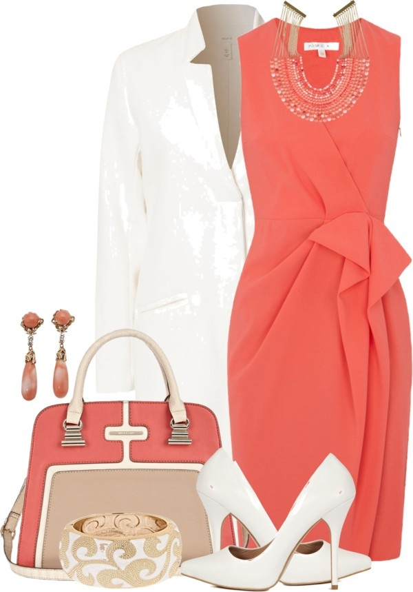 """White Pumps II"" by brendariley-1 on Polyvore"