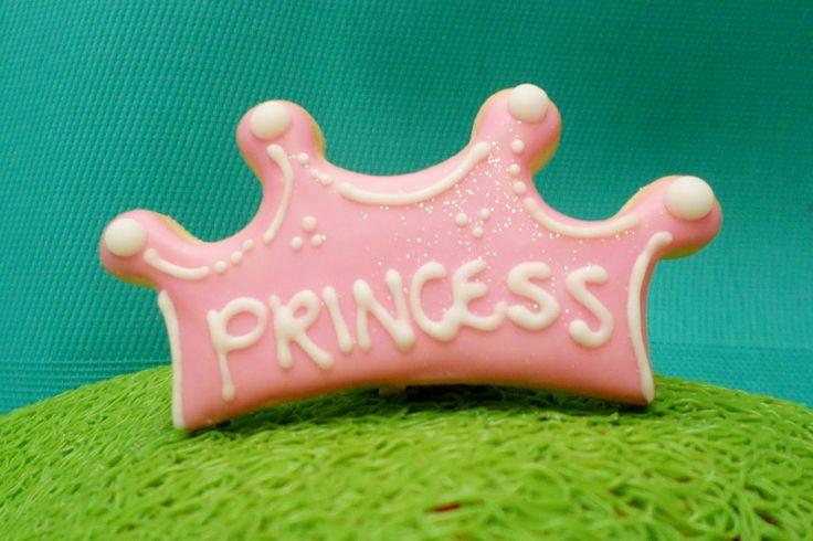 Coronitas de galleta para niña.  #Cookies #Galletas #Princess #Decoration