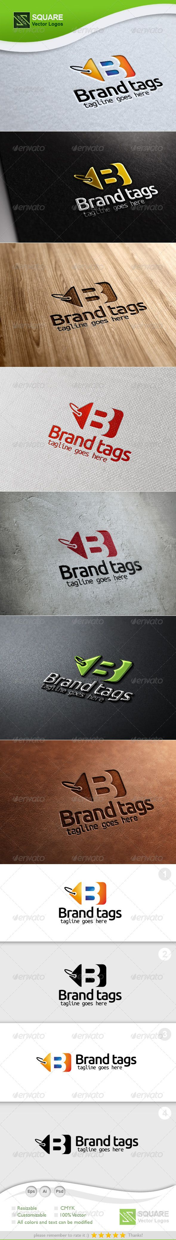 B Tag Vector - Logo Design Template Vector #logotype Download it here: http://graphicriver.net/item/b-tag-vector-logo-template/5453605?s_rank=1122?ref=nesto