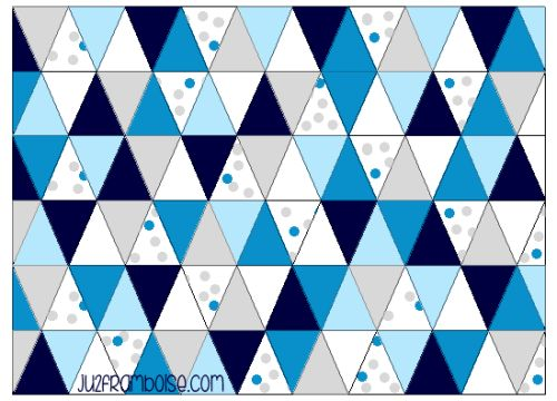 tuto couverture bébé triangles DIY
