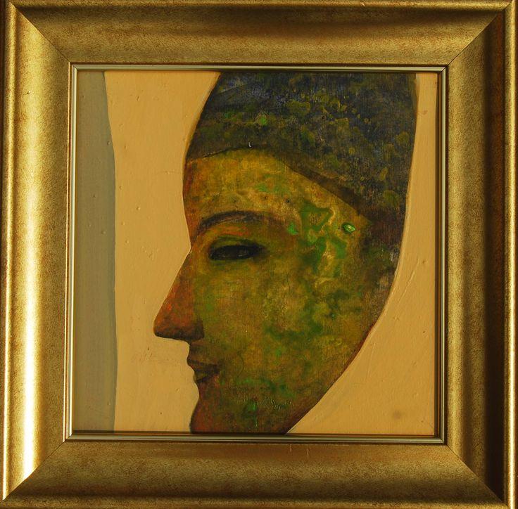 Tapas Ghosal Profile II Acrylic on Canvas Paintings Eikowa