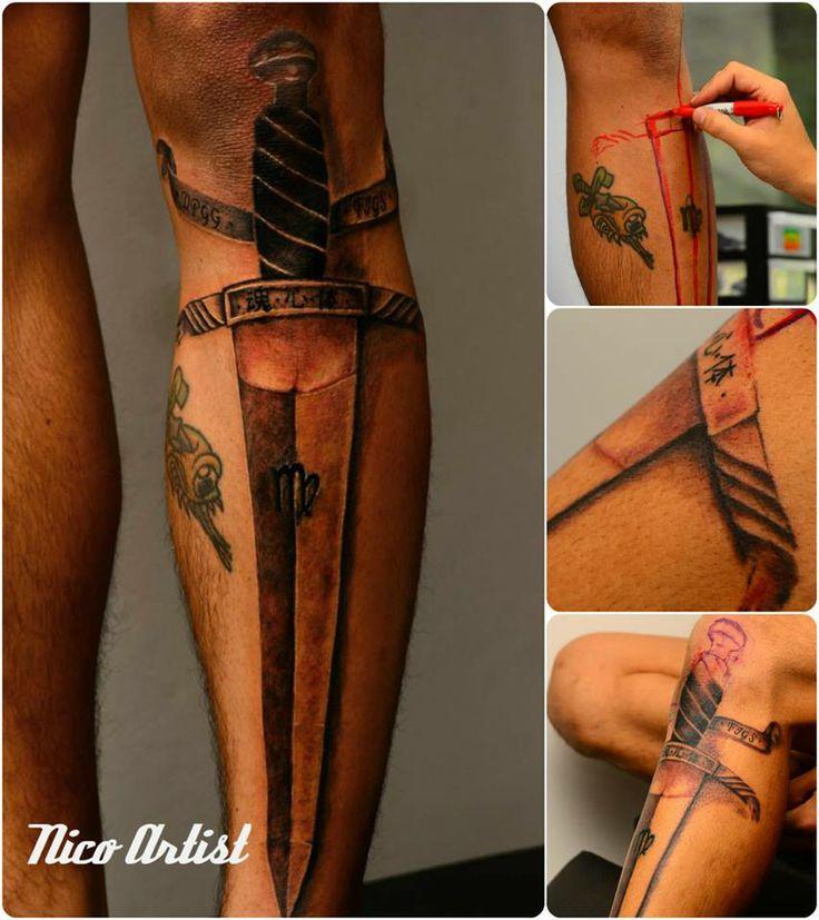 Tattoo daga nico artist Leben tattoo studio #dagatattoo #Nicoartist