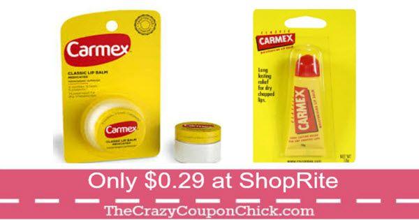 ***NEW PRINTABLE*** Carmex Lip Balm Only $0.29 at ShopRite (thru 9/23)