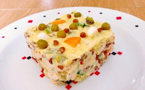 Retete Culinare - Salata de boeuf cu linte si conopida