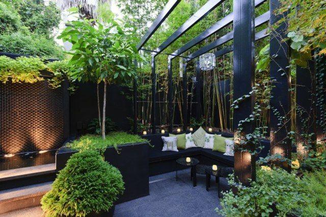terrasse de jardin moderne