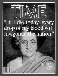 """Indira Ghandi- in more ways than one, she is a mentor = My favorite quote that she had said was,"""" """"My grandfather once told me that there were two kinds of people: those who do the work and those who take the credit. He told me to try to be in the first group; there was much less competition."""""""