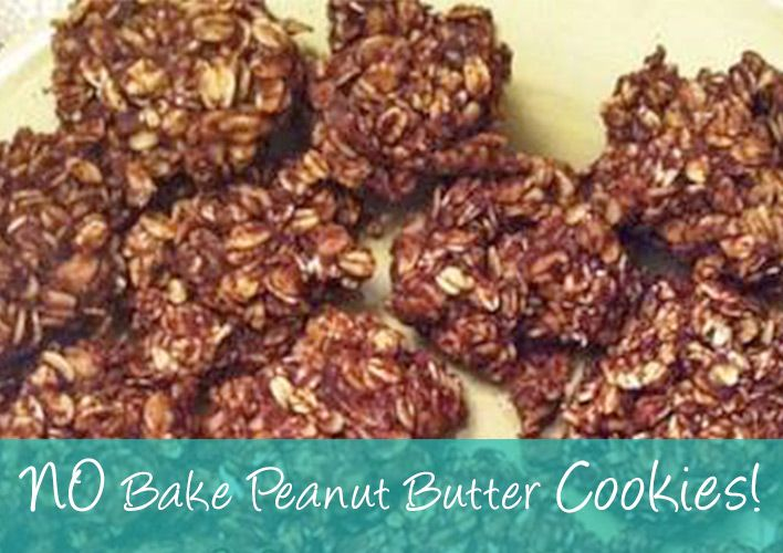 No bake Peanut Butter Cookies, perfect for breakfast or a post workout treat.