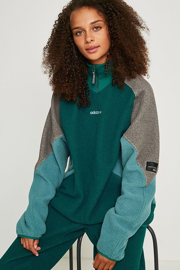 adidas black sweatshirt vintage, adidas Eqt Polar Fleece