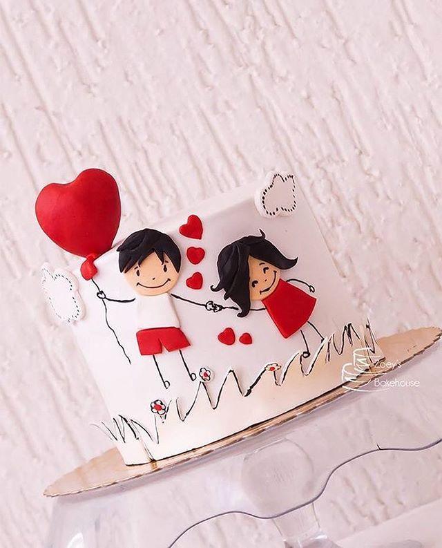Bolo lindo. Sugestão para noivado. Pic via Pinterest. #ideiasdebolosefestas…