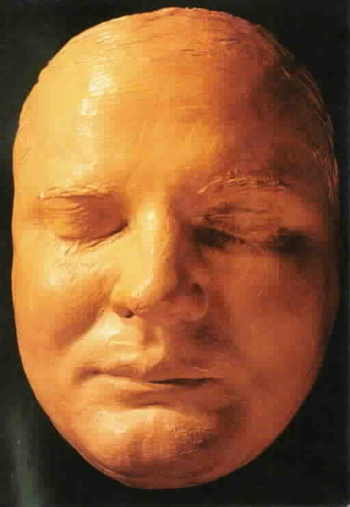 Pretty Boy Floyd death mask. My dad told me that his earliest memory was of being at this man's funeral.
