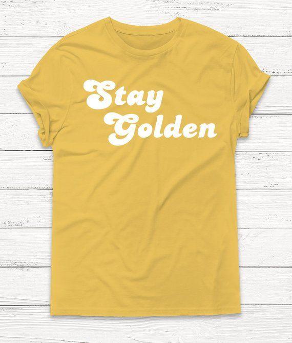a6d58713740c Stay Golden Tshirt - Retro Shirt - Graphic Tee - Vintage Shirt - 70's Shirt  - Women's Tee - Camping Shirt - Summer Shirt - Women's Graphic