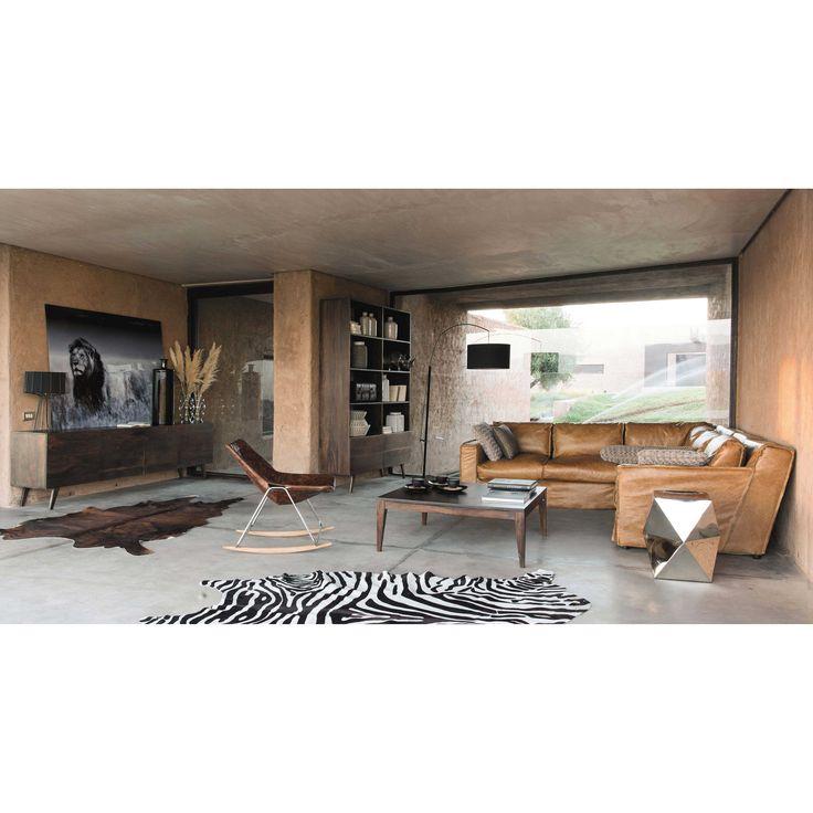 canap cuir vieilli cognac maisons du monde s jour inspiration pinterest cuir vieilli. Black Bedroom Furniture Sets. Home Design Ideas