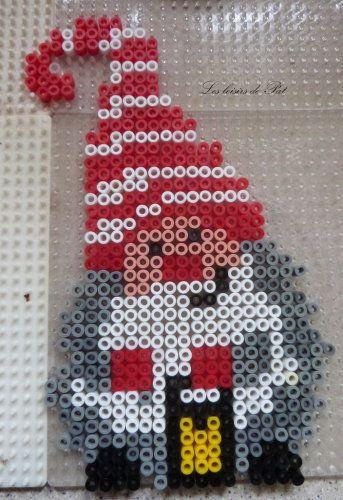 Gnome Christmas hama beads by Les Loisirs de Pat