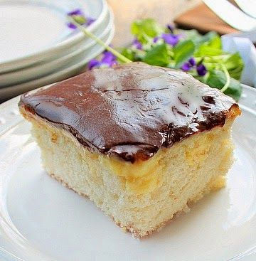 Boston Cream Poke Cake This is a 9 inch semi homemade Boston Cream Poke Cake because sometimes a big cake is way to much.