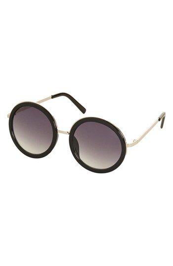 Topshop 'Lolita' Round Sunglasses