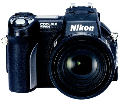 Nikon Coolpix 5700 5MP Digital Camera w/ 8x Optical Zoom (Discontinued by Manufacturer). 5.0 megapixel sensor creates 2,560 x 1,920 images for prints at 11 x 14 and beyond. 8x optical zoom and 4 x digital zoom for 32x total; provides an equivalent zoom range of 35mm-280mm in 35mm photography. Includes 16 MB CompactFlash card; MicroDrive compatible. Connects with PCs and Macs via USB port. Uses 1 rechargeable Li-ion EN-EL1 battery (included).
