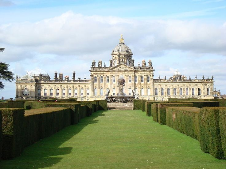 """Castle Howard: the Star of """"Brideshead Revisited"""" - Castle Howard is considered to be one of the grandest private residences in England today.Castle Howard took about 100 years to build, beginning in 1699, and the Howard family still lives there (much of the home is open to the public for tours,12-30-2014"""
