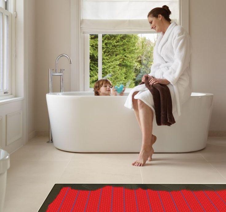 Elektrische Fußbodenheizung Komfort Energieeffizient Kosten Sparen Vorteile  Heizsystem Bodenheizung Badezimmer Renovierung Badewanne