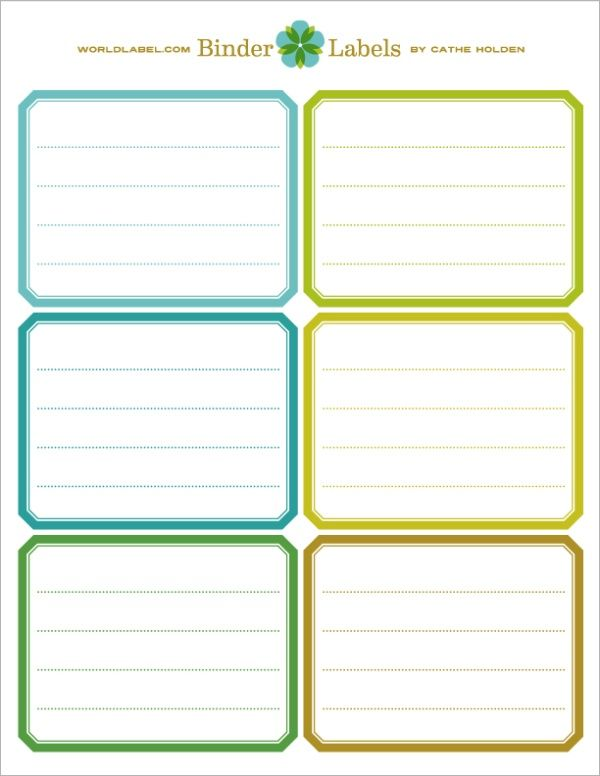 FREE printable Binder Labels in a vintage style by Cathe Holden ofJustsomethingImade.comWhether you're organizing recipes, clippings, business papers, or schoolwork, binders can be the ideal office supply to keep things tidy. In my effort to organize craft classes and workshops, I picked up some binders and spiral notebooks in plain ...