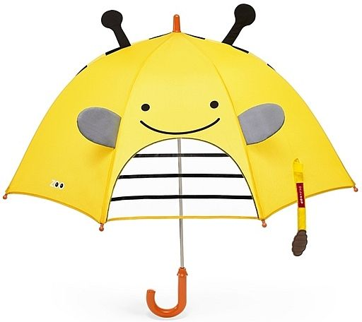 Yellow, positive umbrella with the bee. It will make you happy even in the rainy day. #backtoschool
