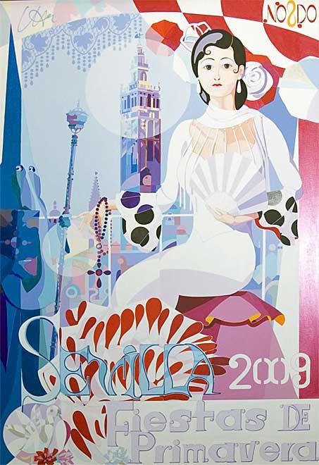 Fiestas Primaverales de Sevilla - cartel 2009