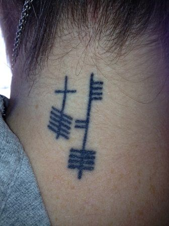 neck tattoos for men writing about feminism