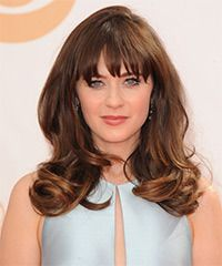 Zooey Deschanel Hairstyle - Formal Long Straight