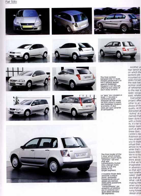 OG   Fiat Stilo   Design process: from mock-ups to final prototype