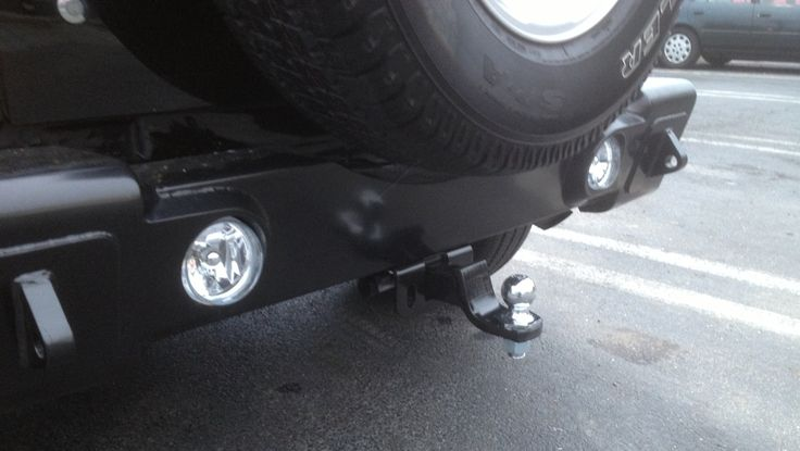 2013 Jeep Wrangler Sport Unlimited bumper tow hitch mount