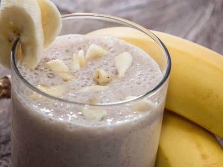 Shake de banana com linhaça para emagrecer na dieta