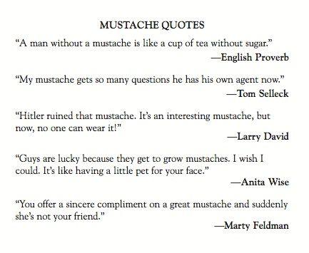 Mustache Quotes -
