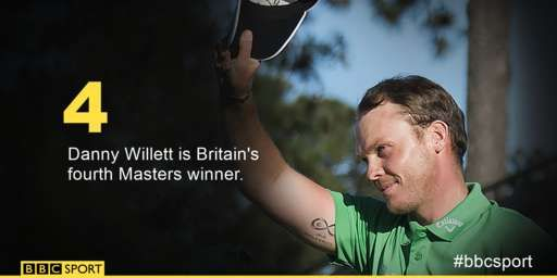 Danny Willett is Britain's fourth Masters champion