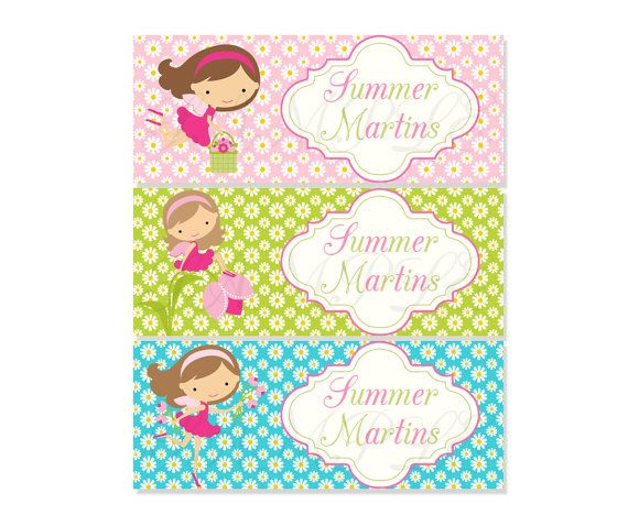 School Label   Fairy Name Label   Name Tag Sticker   Back To School Label