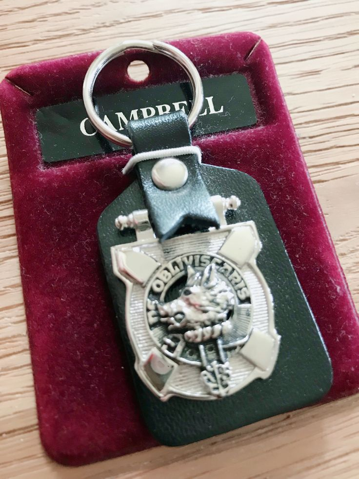 A personal favourite from my Etsy shop https://www.etsy.com/uk/listing/615809565/vintage-key-fob-clan-keyring-campbell