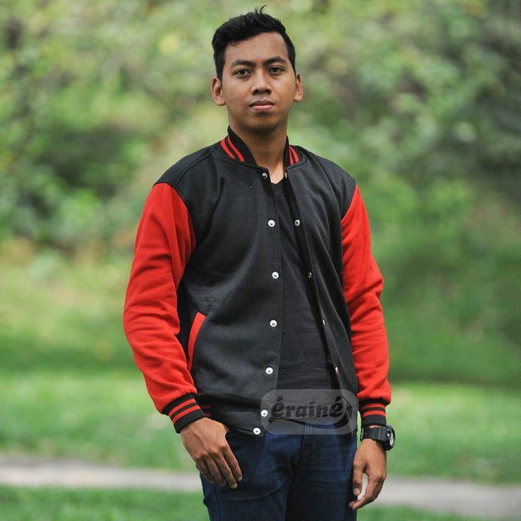 Varsity Jacket Black Red