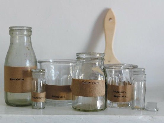 Brown paper labels. #reuse, #recycle, #ideas