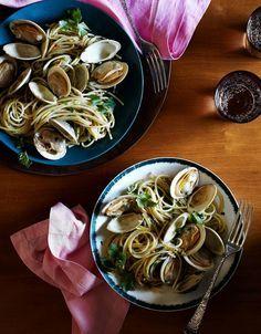 Spaghetti Vongole via Nina Compton WSJ recipe from New Orleans restaurant compere Lapin